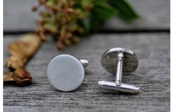 Shadow Sterling Silver Cufflinks