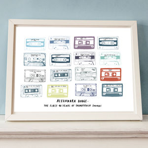 Personalised Play List Cassette Print - corporate gifts with personality