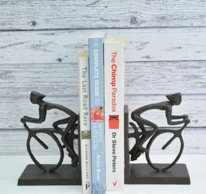Cyclist Bookends - living room