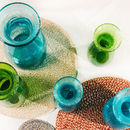 Set Of Four Handwoven Colourful Jute Placemats