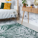 Green Palm Leaf Rug