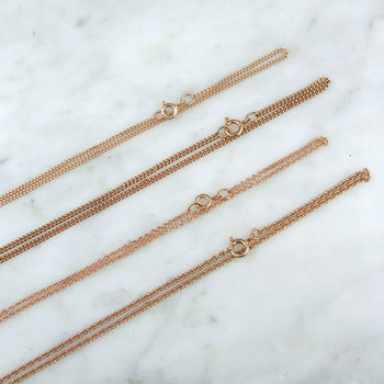 Plain Rose Gold Plated Sterling Silver Chain
