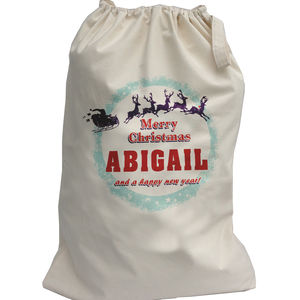 Personalised Sleigh Christmas Sack