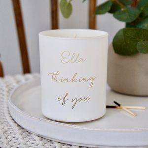 Personalised Thinking Of You Scented Candle