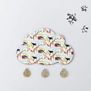 Nursery Cloud Wall Hanging, Liberty Zoo Animals - what's new