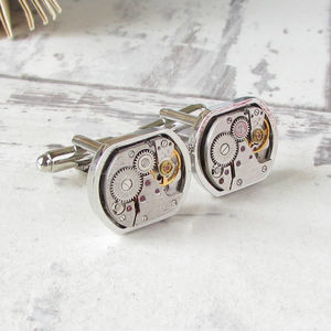 Vintage Rounded Square Watch Movement Cufflinks
