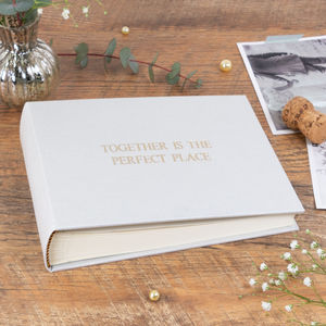Personalised Wedding Photo Album Classic Linen