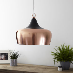 Casablanca Pendant Light Rose Gold - pendant lights