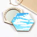 Personalised Birthday Sky Hexagon Compact Pocket Mirror