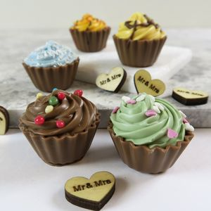 Cupcake Chocolate Favours Four Boxes - edible favours