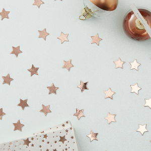 Rose Gold Foiled Star Shaped Table Confetti - table decorations