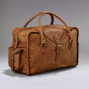 Vintage Style Leather Cabin Bag - holdalls & weekend bags