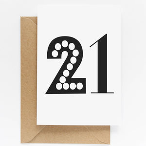 21st Birthday Milestone Card - shop by category