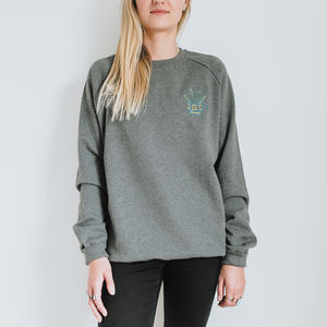 Aloe Succulent Embroidered Organic Cotton Jumper - jumpers