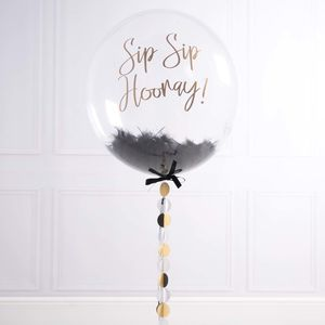 Personalised Party Feather Balloon - outdoor decorations