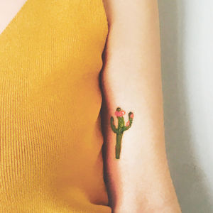 Cactus Festival Temporary Tattoo - temporary tattoos