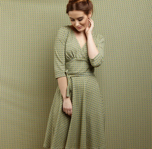 Florence Green/Mustard Check Dress - dresses