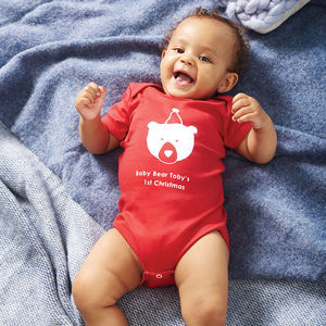 Baby Bears First Christmas Baby Grow - baby's first christmas