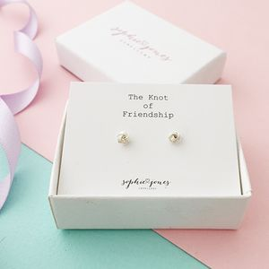 Little Knot Of Friendship Earrings - earrings