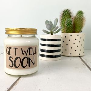 'Get Well Soon' Scented Natural Soy Candle - home accessories