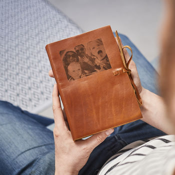 Personalised Photo Leather Notebook