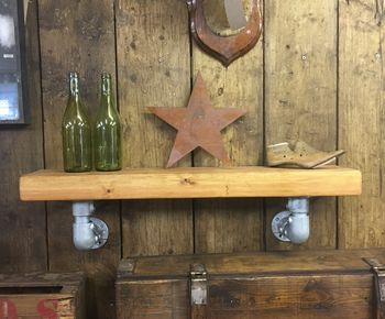 Reclaimed Wooden Industrial Shelving