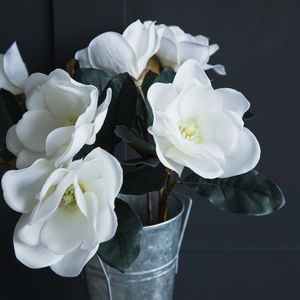 Faux White Magnolia Stem
