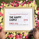 Personalised Wedding Street Sign Print