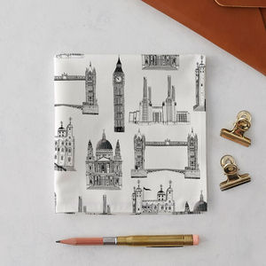 London Buildings Handkerchief Pocket Square - stocking fillers