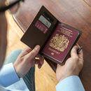 Personalised Leather Passport Cover With Reptile Finish