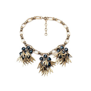 Blue Tourmaline And Gold Statement Necklace - statement jewellery