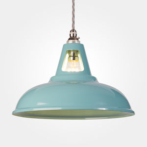 Turquoise Coolicon Vintage Industrial Pendant Lamp - ceiling lights