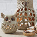 Ceramic Owl Tea Light Holder
