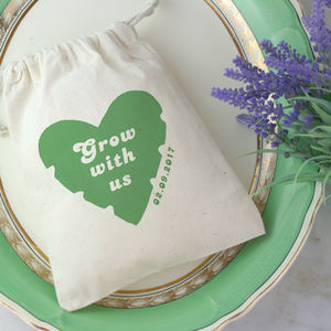 Botanical Wedding Favour Bag With Seeds - wedding favours