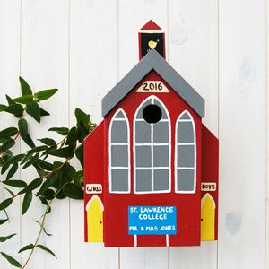 Personalised School Bird Box - birds & wildlife