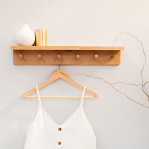 Peg Shelf Coat Rack