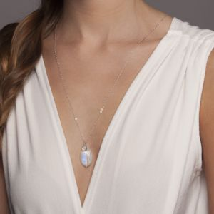 Gold Or Silver Personalised Rainbow Moonstone Pendant - necklaces & pendants