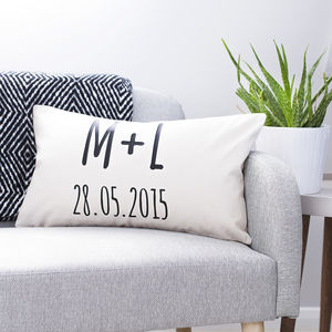 Personalised Initials Couple's Cushion