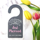Personalised 'Just Married' Newlyweds Sign