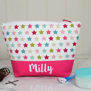 Personalised Star Design Wash Bag