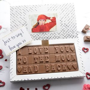 'I Love You To The Moon And Back' Chocolates - valentine's gifts for him
