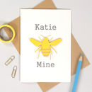 Bee Mine Romantic Bombus Valentines Card