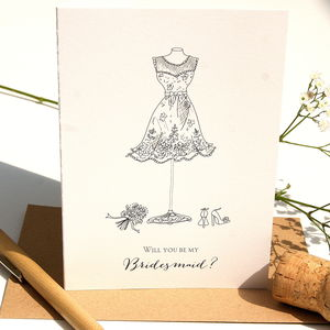 Will You Be My Bridesmaid Card - winter sale