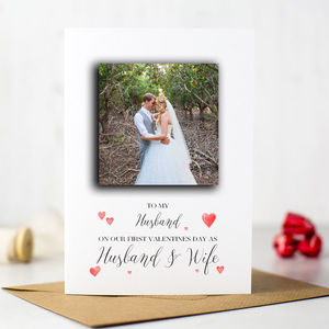 'First Valentines Day As Husband And Wife' Card