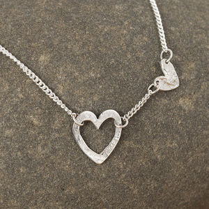 Single Strand Double Heart Necklace