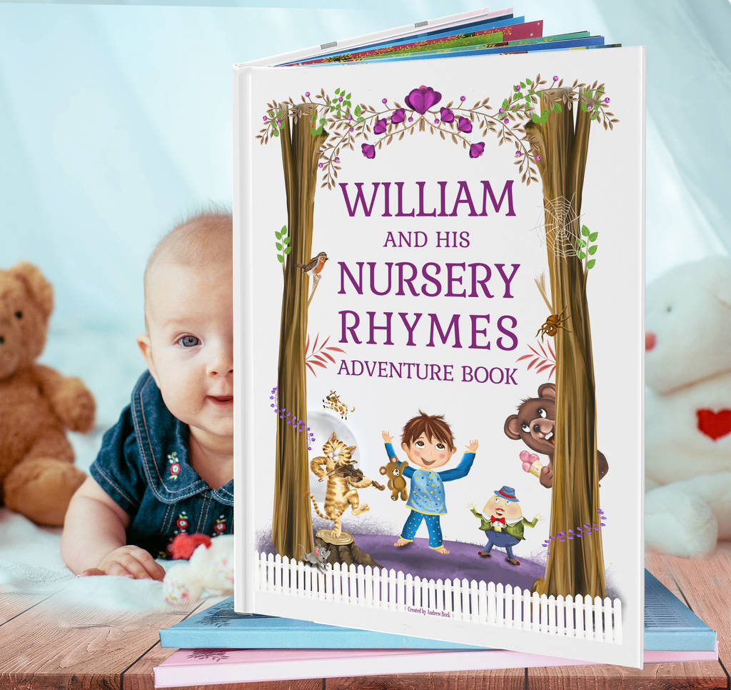 Nursery Rhymes And Poems Book Personalised For Baby Toddler