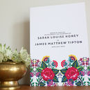 Floral Folk Design Wedding Order Of Service