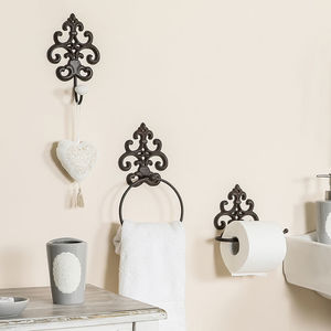Fleur De Lys Cast Iron Bathroom Accessories - bedroom