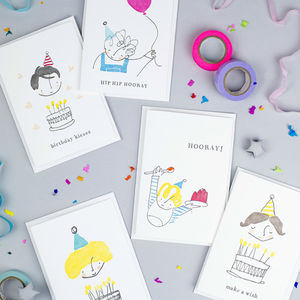 'Little Prickle' Set Of Five Birthday Cards - birthday cards
