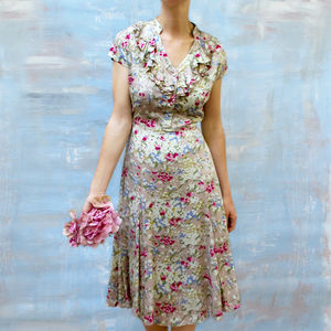 Floral Summer Garden Party Tea Dress - sale